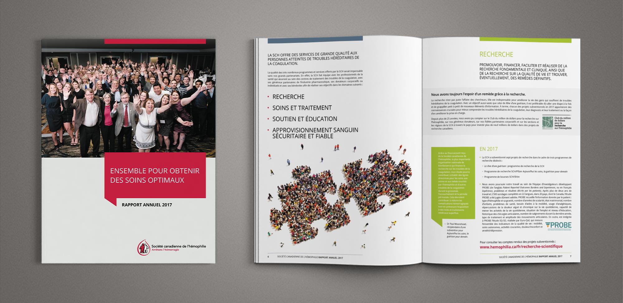 Société canadienne d'hémophilie - Rapport annuel 2017